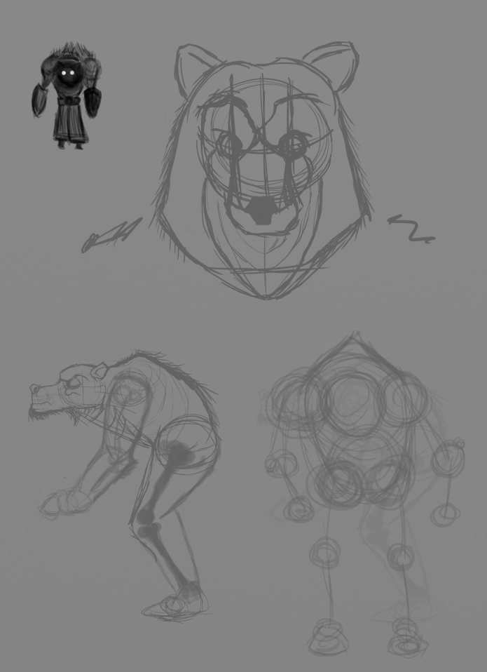 Rough bear design 01