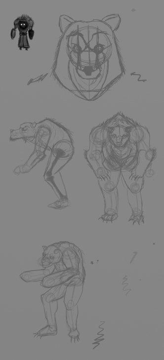Rough bear design 02